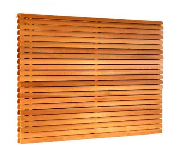 Cequence Slatted Cedar Fence Panel - Double Sided Panel