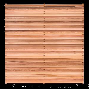 Bavel Edge Slatted Cedar Fence Panel