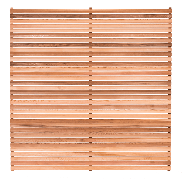 Bavel Edge Slatted Cedar Fence Panel