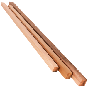 Square Top Cedar Wood Posts