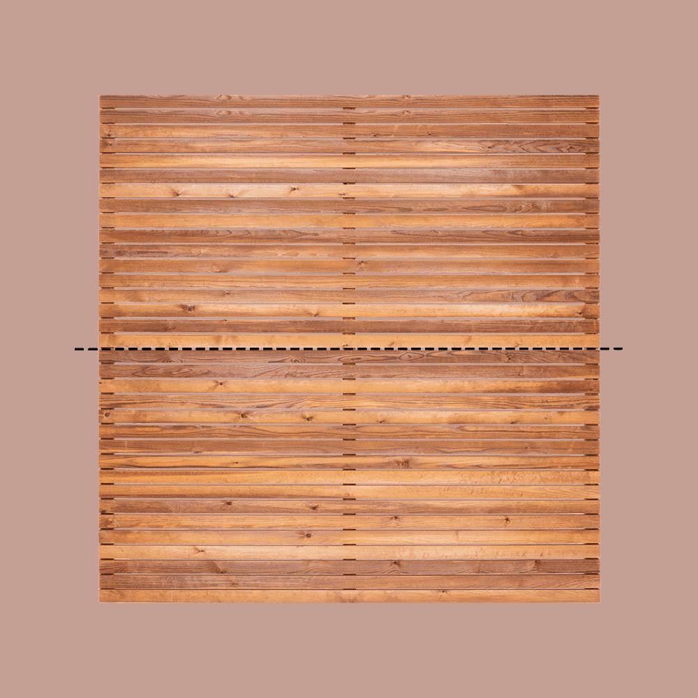 Redwood Venetian Fence Panel
