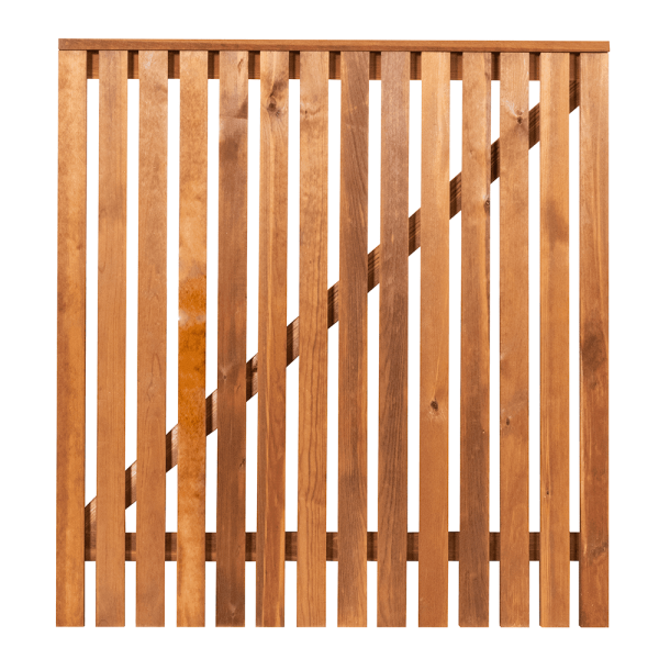 Redwood Picket Gate